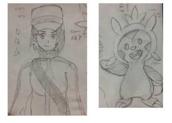Sketch Dump - Pokemon X / Y by BrunoProg64