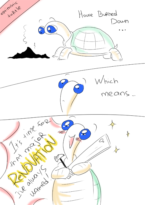 Optimistic Turtle by solray-chan