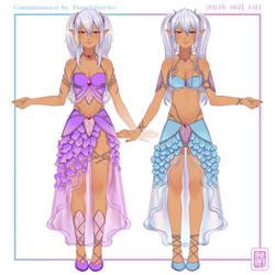 [COM] Twin Elves Petal Outfit
