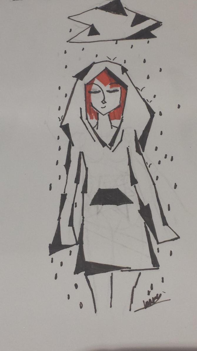 Girl in the rain by neshling