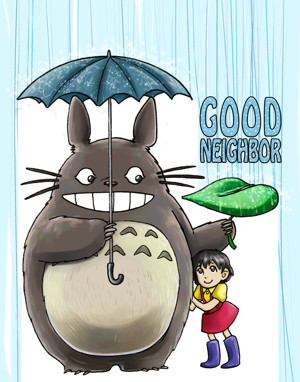 Good Neighbor Totoro by ScuttlebuttInk