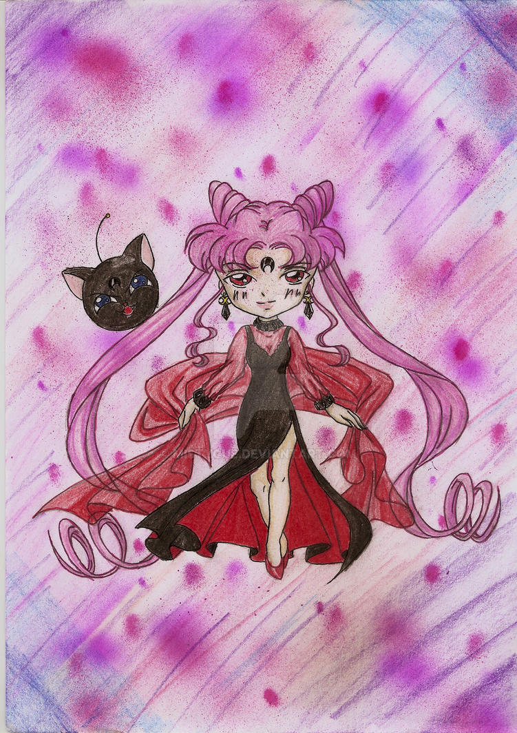 Chibi Black Lady Color by MistyQue