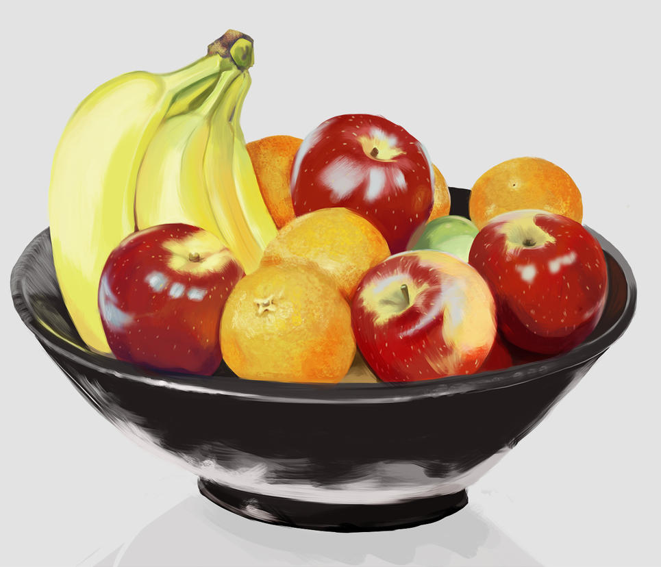 Fruit bowl study by Mourkhayn