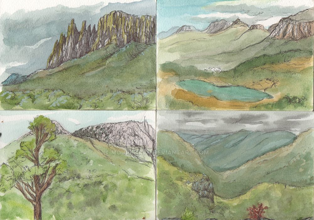 Tasmania - Watercolor Sketches 2 by Mourkhayn