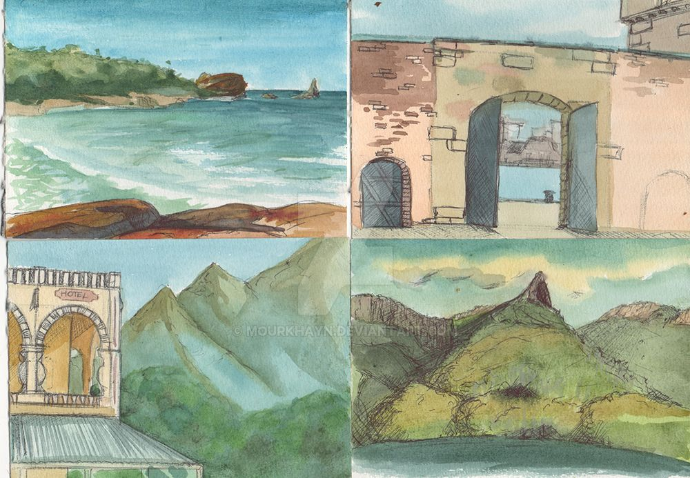 Tasmania - Watercolor Sketches 3 by Mourkhayn