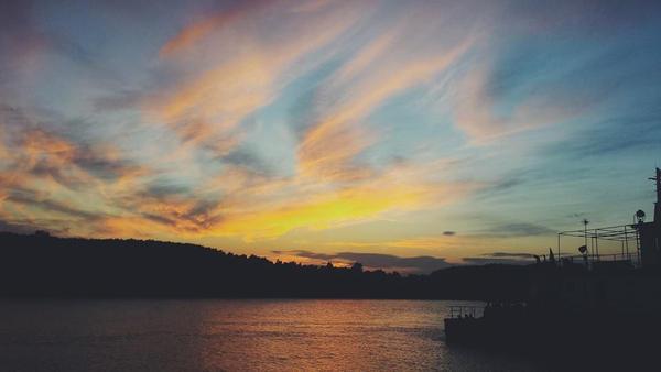 Sunset at Danube River II by LemuriaFalls