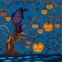 Raven at Halloween night by NecromancerKing85