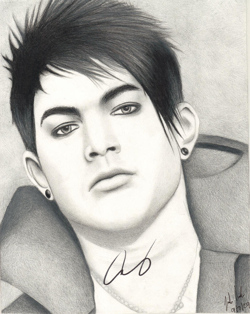 Adam Lambert Drawing Signed By Santabillie On DeviantArt