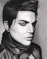 Adam Lambert VMAN Drawing by santabillie
