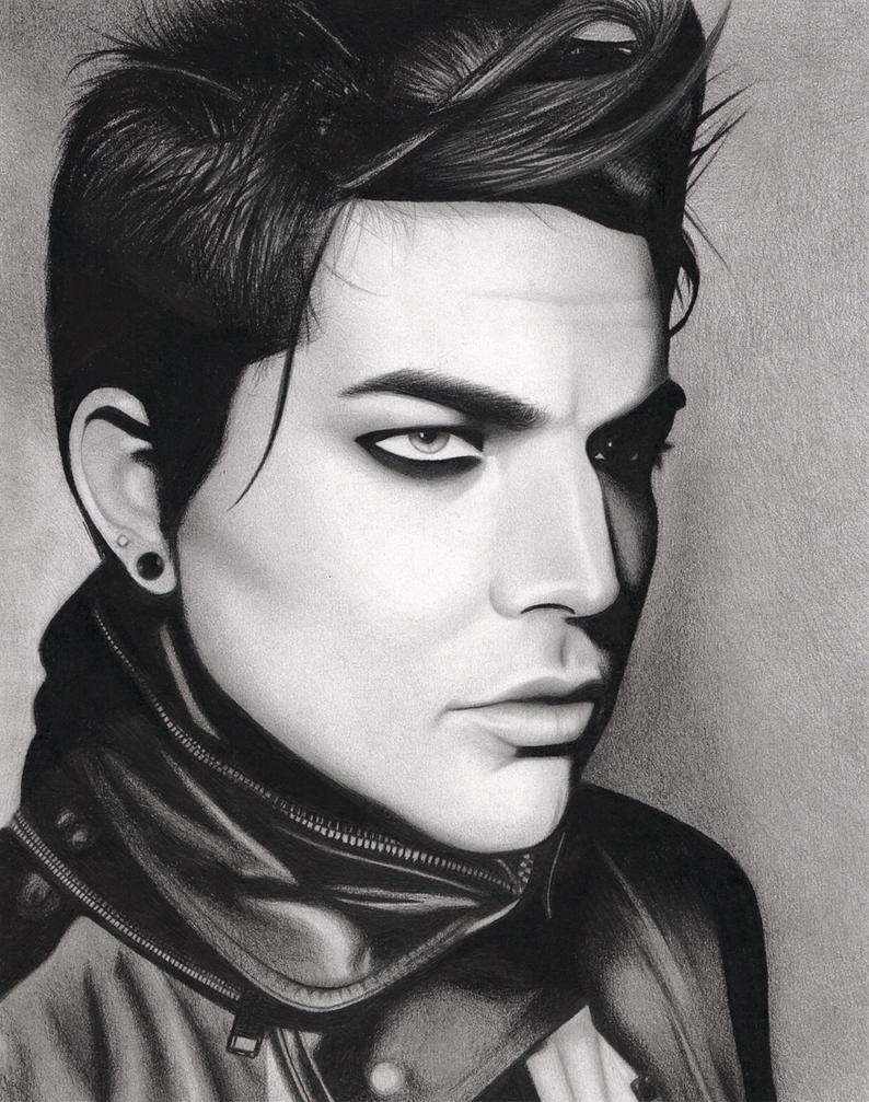 Adam Lambert VMAN Drawing By Santabillie On DeviantArt
