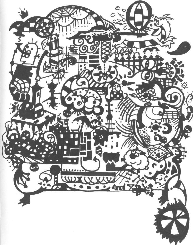 The doodle monster by sage of sound on deviantart for Doodle art monster