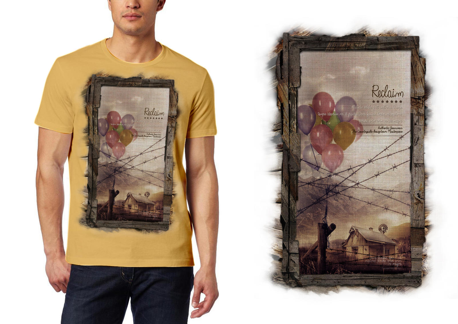 Create a T-shirt design and prepare it for print