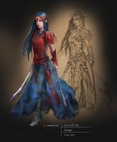 Character Design 'Svenya' from Elbenthal-Saga