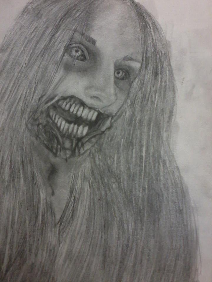 Zombie self-portrait by cutieloli
