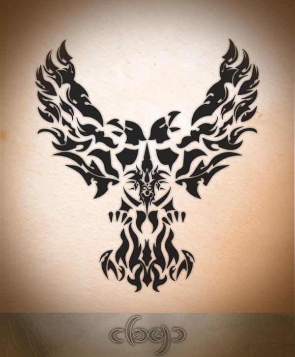 tribal eagle 39 s tatto by warrior2001 on deviantart. Black Bedroom Furniture Sets. Home Design Ideas