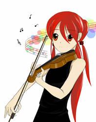 Shana play violin 'Alone version' by Chemegou