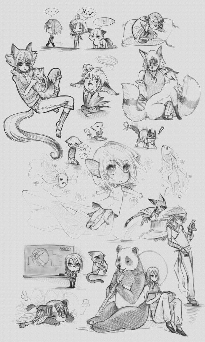 :: MyPaint Doodles :: by Vienix