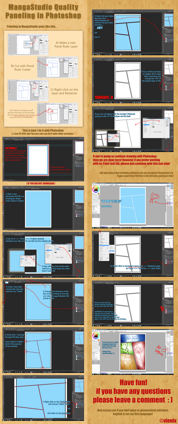 :: [Tutorial] Quality Paneling in Photoshop :: by Vienix