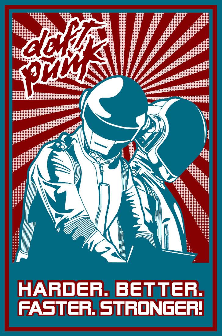 Daft Punk Harder Better by PopulationOneGraphix