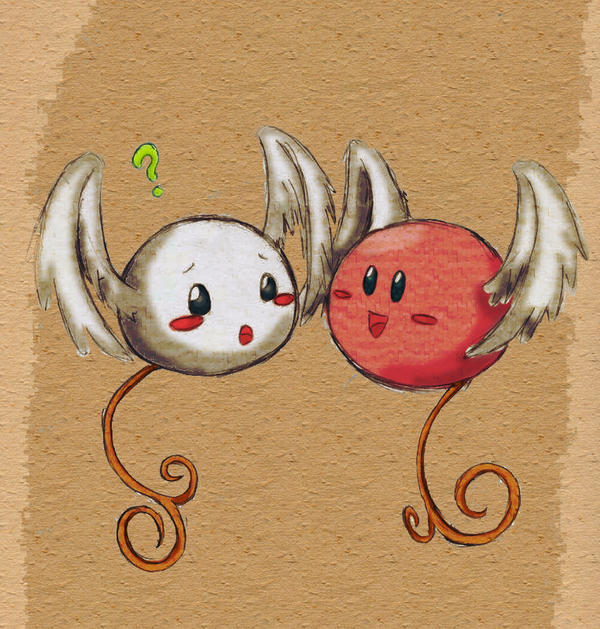 Kirby and Angel Imp Colored