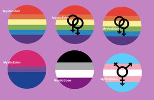 LGBTQ Pride Buttons by MysticEden