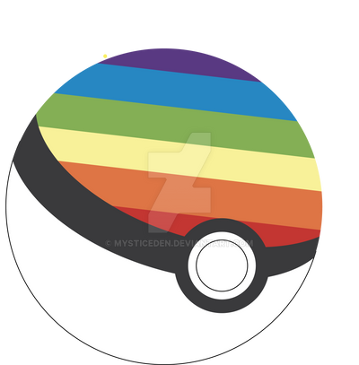 Pokeball Rainbowball by MysticEden