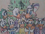 Donald and Daisy Duck with their kids (Quack Pack) by DjordjeCvarkov