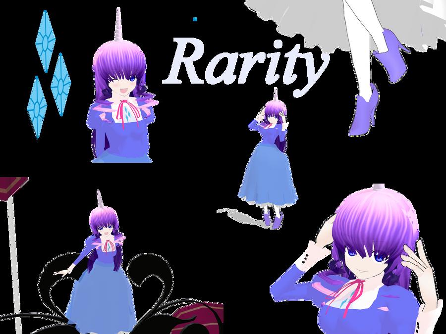 Rarity My little pony MMD by MoonTheBlueNeko