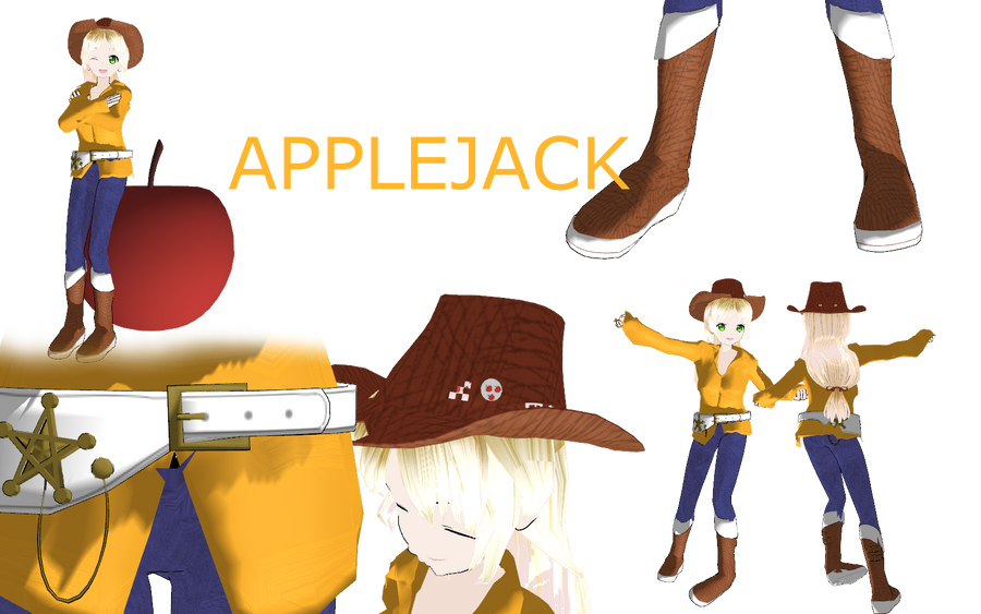 Mlp apple jack by MoonTheBlueNeko