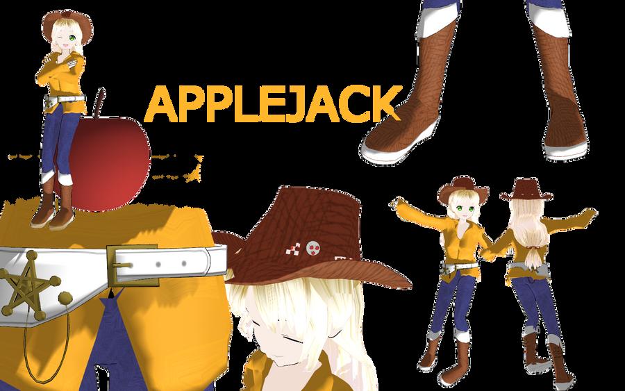 Mlp apple jack by MoonTheBlueNeko