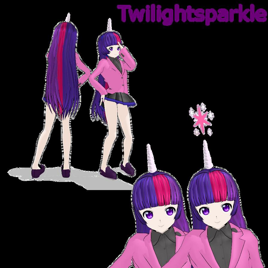 MLP twilightsparkle MMD by MoonTheBlueNeko