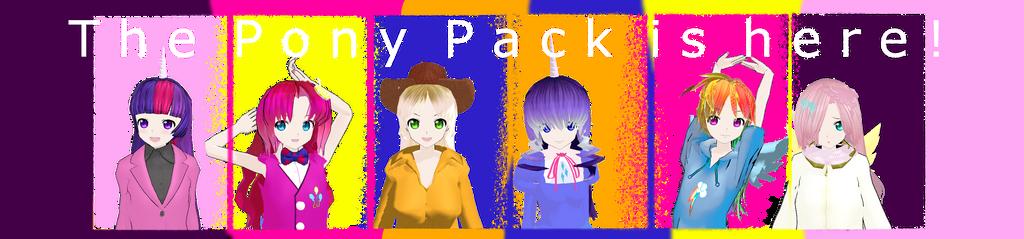 MMD Pony Pack DOWNLOAD by MoonTheBlueNeko