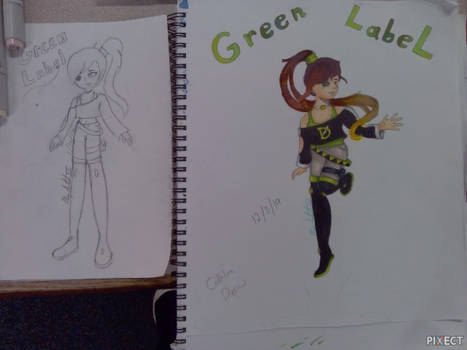 [OC Redraw] Green Lable (A.K.A Cathline Drew)