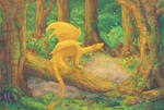 dragon in a forest (non animated)