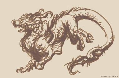 Class Sketch Dragon by astyrra