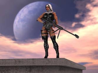 Warrior nun by Tigersan