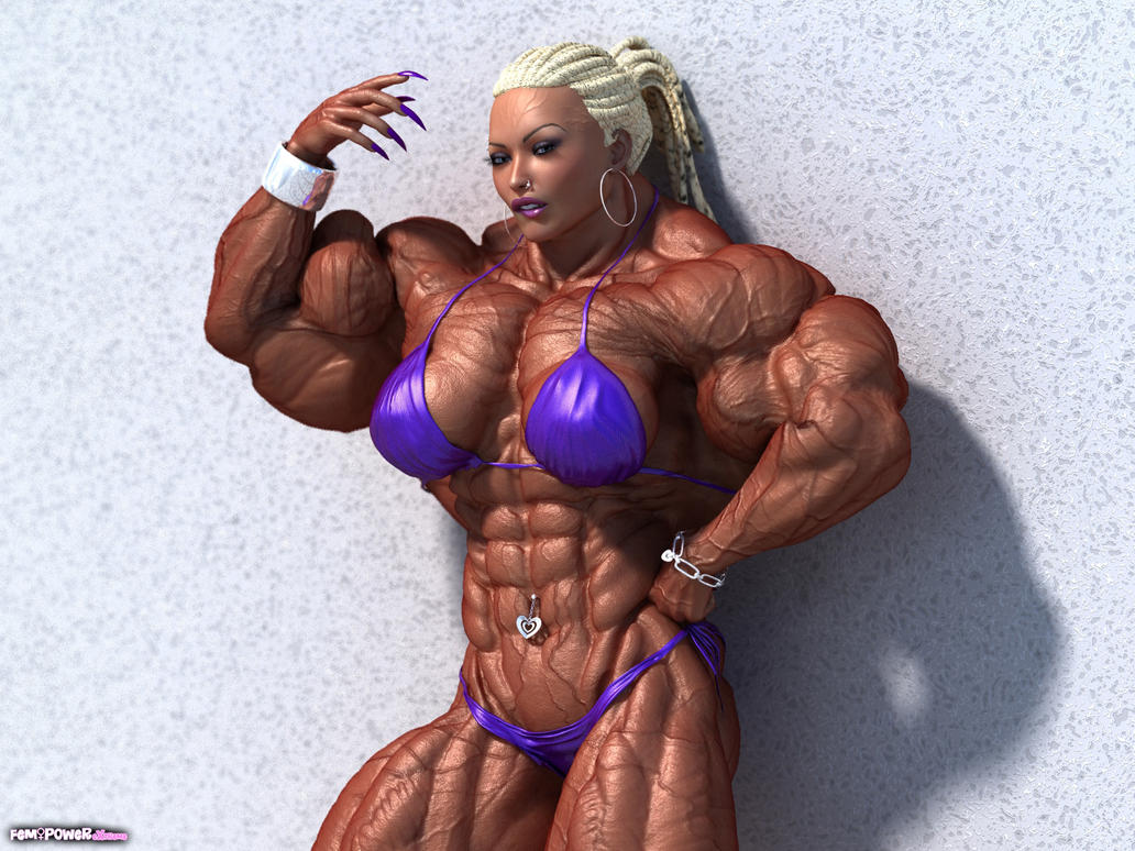Drawings of women bodybuilders have