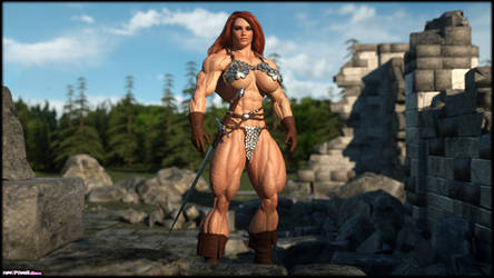 Red Sonja in the Ruins by Tigersan