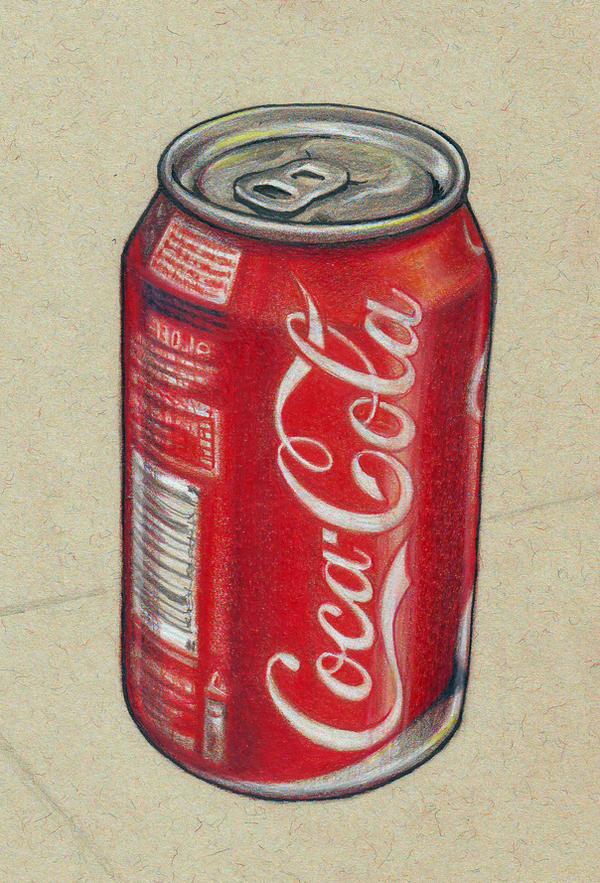 how to draw a coke bottle easy