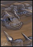 Steelix in Sandstorm by pokemon-master