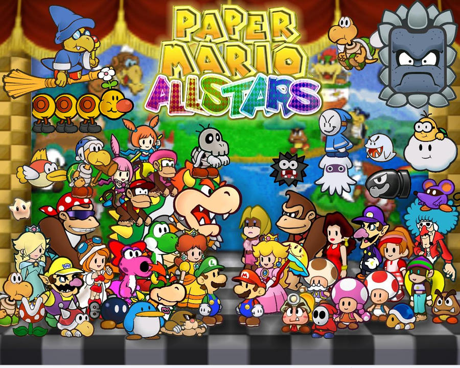 Mario All Stars Paper Theme By Fredericton high On DeviantArt