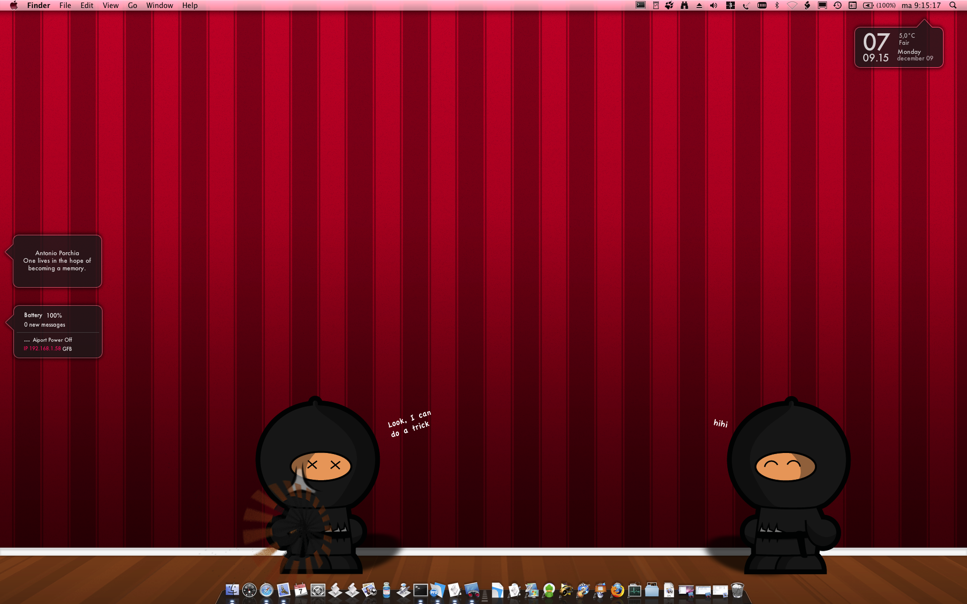 screenshot of ninja wallpaper by tomge
