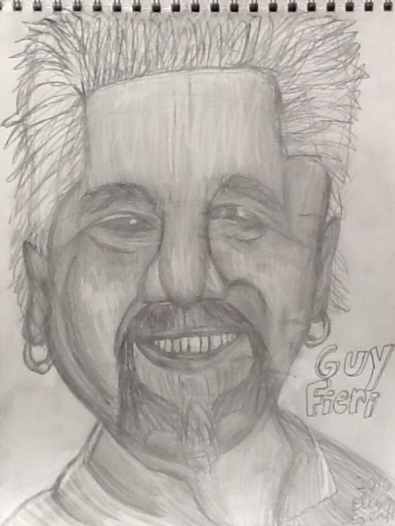 This is a picture of Crush Guy Fieri Drawing