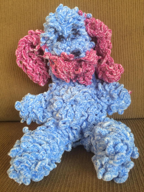 Finger Knitted Stuffed Animal Dog by rosecount129 on DeviantArt