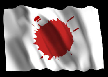 Bloody Japanese Flag by Miborovsky