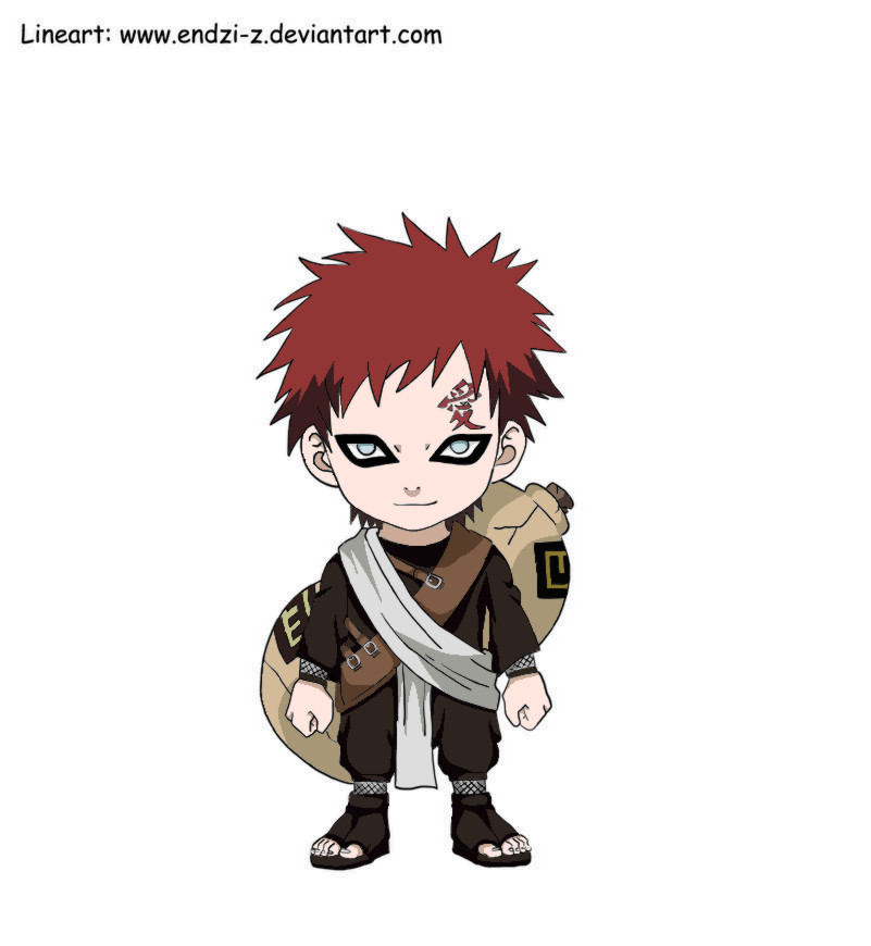Chibi Gaara Colored by kayts99 on DeviantArt Gaara And Naruto Chibi
