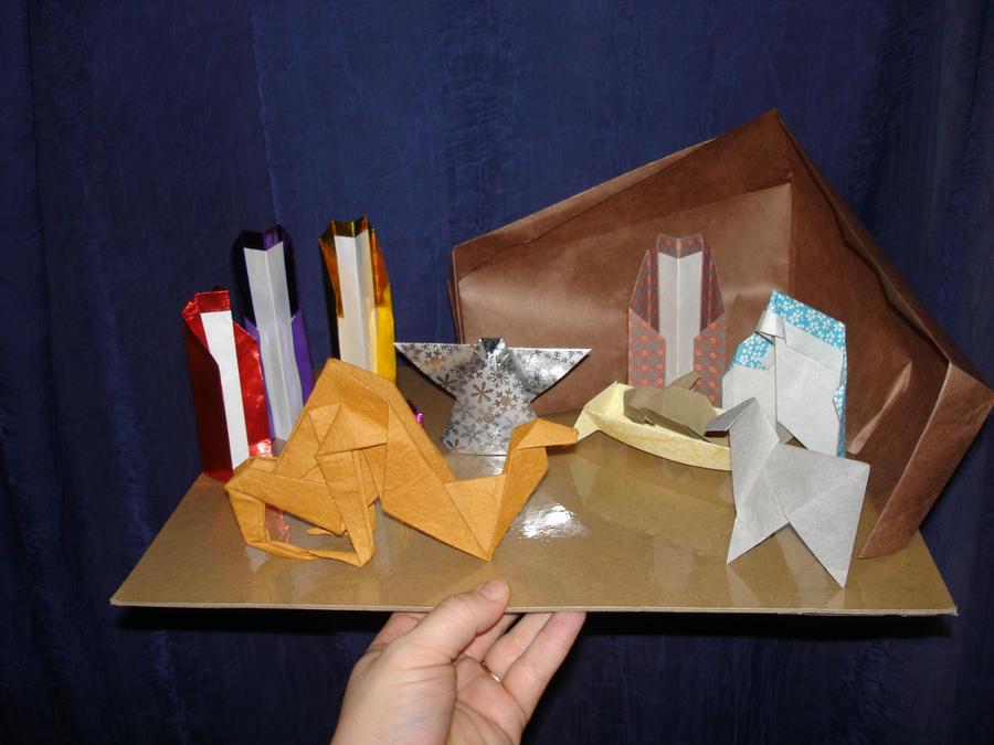 origami nativity scene by pandaraoke on deviantART