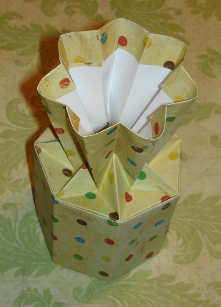 Origami Flower Vase By Pandaraoke On Deviantart