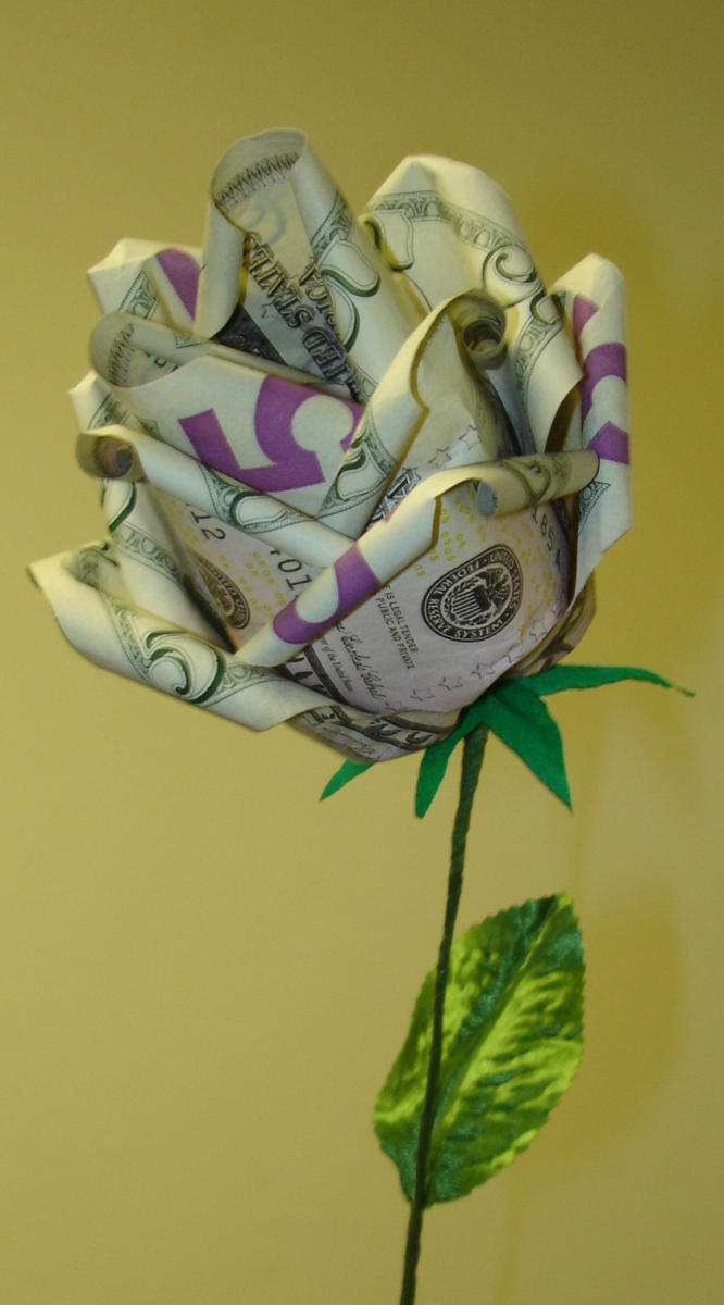 25 Origami Money Rose By Pandaraoke On Deviantart