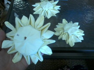 pastel origami sunflowers by pandaraoke
